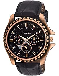 Roman Star Men's N-1126 Brown Coloured With Black Leather Strap Analog Quartz Watch