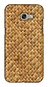 Blutec Jute Wall Design 3D Printed Hard Back Case Cover for Samsung Galaxy A7 (2017)