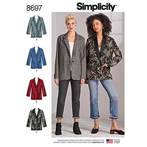 Simplicity creative Patterns US8697BB Misses /oversize da donna Blazer