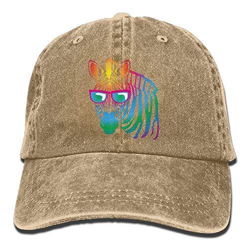AOHOT Herren Damen Baseball Caps,Hüte, Mützen, Classic Baseball Cap, Cool Zebra Sunglasses Denim Hat Adjustable Men's Classic Baseball Hat