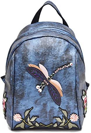 Sac à dos préscolaire Motif de broderie fleur sac à dos sac de loisirs Voyage petit sac à dos B07LFDRSHK | Outlet Store