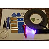 5ml Loca Pegamento, 9 LED Antorcha UV, Kit Herramientas de Apertura para iPhone, Samsung, Htc, Nokia, Lg