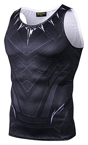 Pizoff PIZOFF Herren Gym Sport Fitness Stringer Trainingsshirt Superhero Muskelshirt T-Shirt Tank mit Animation Cartoon Karikatur Muster AC021-02-S