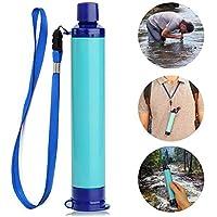 XCHUNA Filtro de Agua Personal, Equipo de Supervivencia de Agua Personal de filtración de Paja de Emergencia Purificador de Agua para Acampar, el huracán