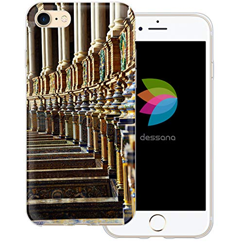 dessana Sevilla Spanien transparente Schutzhülle Handy Case Cover Tasche für Apple iPhone 7 Sevilla Piazza Piazza Apple