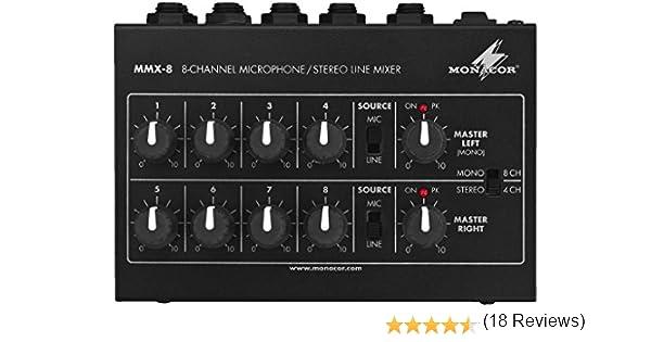 Monacor MMX 4/miniature Micro Mitigeur monocommande Noir