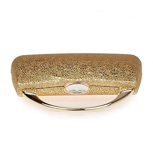 KAXIDY Pochette da Giorno Donna Borsa Pochette a Mano Spalla Tracolla (Argento) Oro