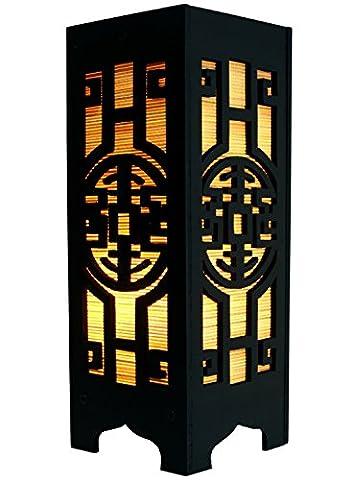 Lampe AYA, Deko - Leuchte im japanisch Stil, Tischlampe, Stimmungsleuchte,