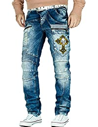 Cipo & Baxx Herren Jeans Freizeit Hose Clubwear Style Denim Disco Dope