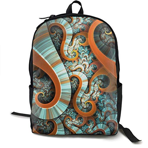 Schultaschen Schule Casual College School Daypack Large Capacity Rucksacks for High School Picnic Walking Cycling Retro Tie Dye Octopus Design Travel Hiking Camping Rucksack for Boys Girls -