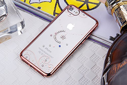 Custodia iPhone 7,iPhone 7 Cover,SainCat Custodia in Morbida TPU Protettiva Cover per iPhone 7,Creative Design Transparent Silicone Case Ultra Slim Sottile Morbida Transparent TPU Gel Cover Shock-Abso Luna e le stelle ornamenti