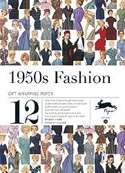 1950s fashion, Volume 26. Grandes feuilles de papier cadeau de haute qualité.