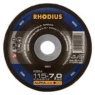 RHODIUS Schruppscheiben Stahl KSM Ø 115 mm für Winkelschleifer Schleifscheibe 5 Stück
