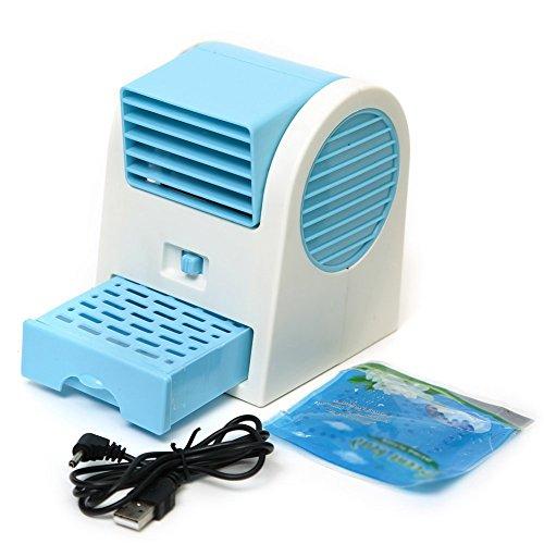 SODIAL (R) angulos ajustables USB Electrica Aire acondicionado mini ventilador del refrigerador...