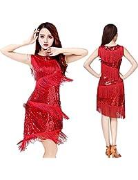 82c9012e1b36 226 5000 Vestito da flapper Donne Dancewear Paillettes di frangia con  paillette Ballroom Samba Tango Dress di…