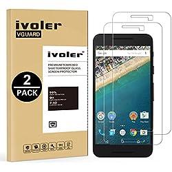 ivoler [Pack de 2] Verre Trempé pour LG Google Nexus 5X, Film Protection en Verre trempé écran Protecteur vitre