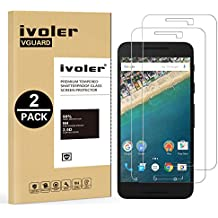 [2 Pack] LG Nexus 5X Protector de Pantalla, iVoler [0.3mm Dureza 9H] Protector de Pantalla de Vidrio Templado Cristal Protector para LG Google Nexus 5X -Dureza de Grado 9H, Espesor 0,30 mm, 2.5D Round Edge-[Ultra-trasparente] [Anti-golpe] [Ajuste Perfecto] [No hay Burbujas]- Garantía Incondicional de 18 Meses