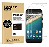 iVoler [Pack de 2] Verre Trempé LG Google Nexus 5X [Garantie à Vie], Film Protection en Verre trempé écran Protecteur vitre (0,3mm HD Ultra Transparent)