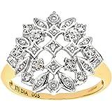 Bague - PR6727 DIAMOND - Femme - Or jaune (9 carats) 3 Gr - Diamant 0.05 Cts
