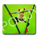 POGJY Alfombrilla de ratón de juego 7 x 8 Inches, tela, base de caucho, compatible con ratón...