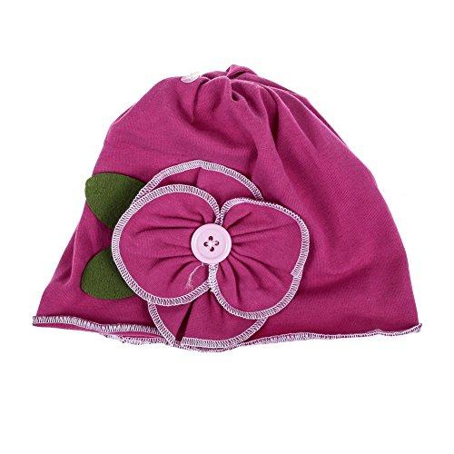 Five Season bébé Fleurs Rose Red Hat Infant Cap pour nouveau-né Coton