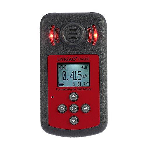 UYIGAO Handheld tragbaren Messgerät für PPM HTV Digital Formaldehyd Tester Methanal Monitor Konzentrationsdetektor mit LCD Display Sound und Licht-Alarm