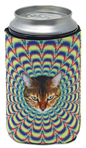 Funny Guy Tassen, Psychedelic Cat zusammenklappbar Neopren Kann Coolie Lampenschirm, Drink Kühler