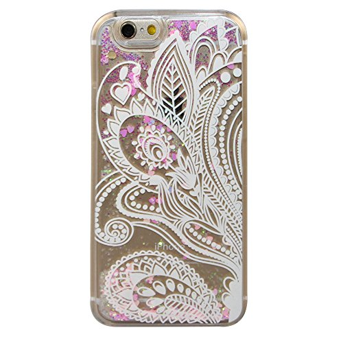 iPhone 6S Plus Coque,iPhone 6 Plus Coque,iPhone 6S Plus Case,iPhone 6 Plus Case,EMAXELERS Liquide Glitter Bling Sparkles Cute Deer Child Design Strass Case Cover Coque Housse Etui pour iPhone 6S Plus, Pink Heart Series 15
