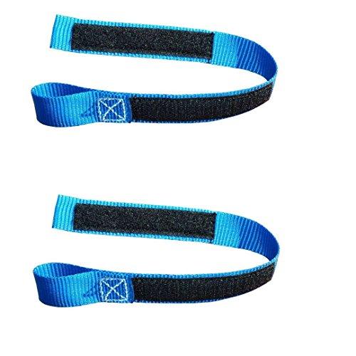 2x Motorrad Bremshebel Arretierungsband, Farbe blau, 35 cm Länge, mit Klettverschluss (2)