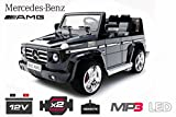 Lizenz Kinderfahrzeug Mercedes Benz G55 AMG Jeep SUV mit 2x 35W Motor Kinderauto Elektroauto Fernbedienung MP3 Anschluss in Schwarz
