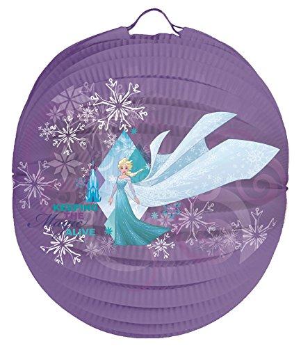 Frozen ELSA Laternenset Ballon-Laterne mit elektrischem Laternen-Stab ca. 49cm und Papier-Lampion ca. 25cm für Kinder