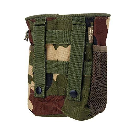Sharplace Borsa Di Escursioni Tattico Militare Caccia Zaino Di Campeggio Sacchetto Accesorio All'aperto - Nero Camo