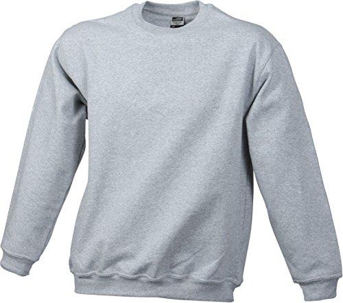 JN040 Round Sweat Heavy Sweatshirt Rundhals Pullover Übergröße Grey Heather