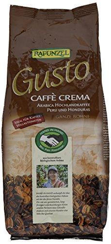 Rapunzel Gusto Caffè Crema ganze Bohne HIH, 2er Pack (2 x 1 kg)