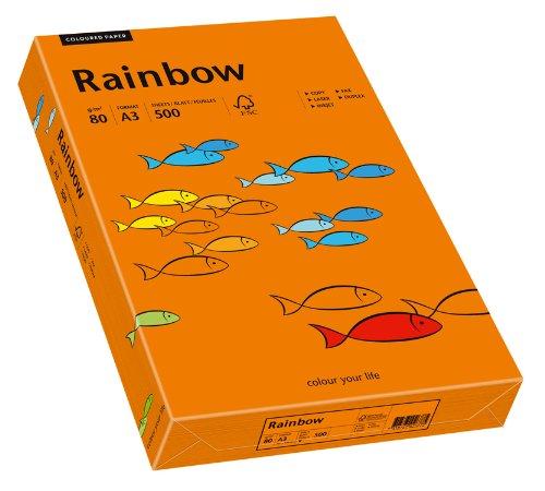 cker-/Kopierpapier farbig, Bastelpapier:  Rainbow 80 g/m², A3, 500 Blatt, intensiv-orange ()