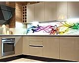 DIMEX LINE Küchenrückwand Folie selbstklebend Rauch 180 x 60 cm | Klebefolie - Dekofolie - Spritzchutz für Küche | Premium QUALITÄT