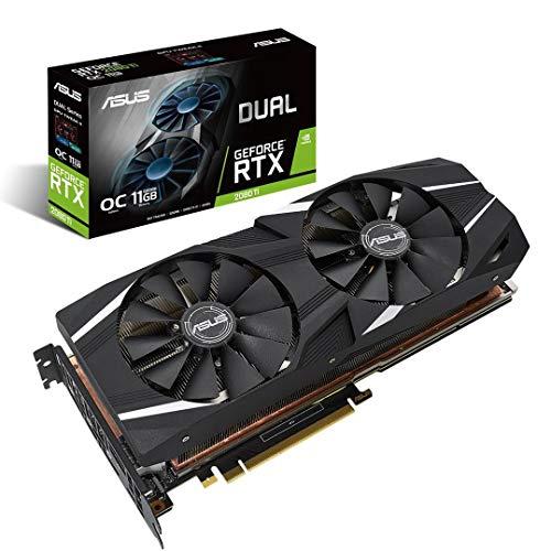 ASUS Dual-RTX2080TI-O11G - Tarjeta gráfica (GeForce RTX