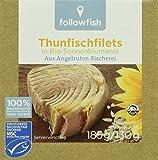 Produkt-Bild: Followfish Thunfischfilet in Bio - Sonnenblumenöl, 8er Pack (8 x 185 g)