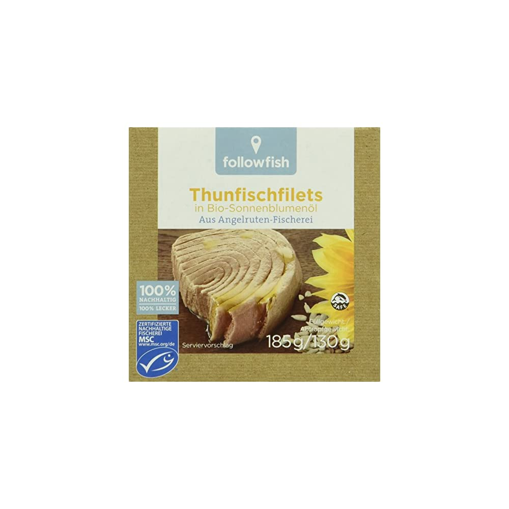 Followfish Thunfischfilet In Bio Sonnenblumenl 8er Pack 8 X 185 G