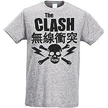 Herren-T-shirt Slim - The Clash - Japan Logo - Maglietta 100% baumwolle ring spun LaMAGLIERIA