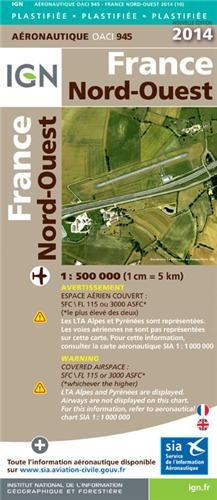 OACI945 FRANCE NORD-OUEST PLASTIFIEE 2014 1/500.000