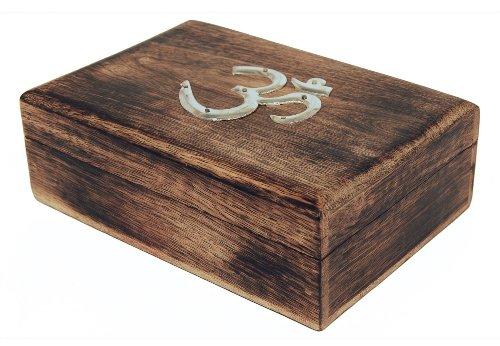 31% di Sconto Boxing Dayt offerte legno naturale OM Simbolo Gioielli Keepsake Box Handcarved compleanno idee regalo
