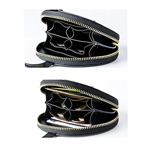 Damen Aktentasche Bürotasche 15.6 Zoll Laptop Tasche in PU-Leder Schwarz (Schwarz) Schwarz
