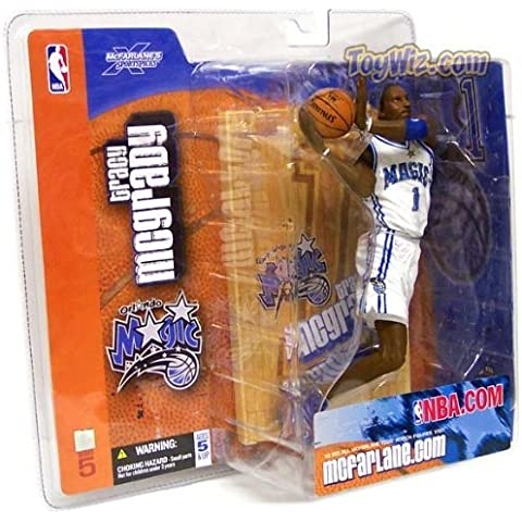 McFarlane Toys NBA Sports Picks Series 5 Action Figure Tracy McGrady (Orlando Magic) White Jersey Variant by