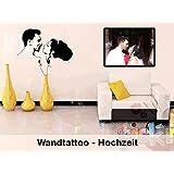 Hochzeit | Wandtattoo | 100% individuell nach Foto Vorlage | Wunschtext | Geschenk | Hochzeitsgeschenk | Aufkleber