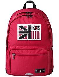 IKKS Boy UK Cartable, 43 cm, 27,52 L, Rouge