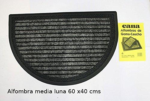 Felpudo Goma-Caucho-Moqueta Calidad Cana S.A. (Felpudo-Moqueta Media Luna 60 x 40 cms)
