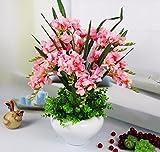 JFWMZyq Künstliche Blumen Freesie Topfpflanzen Wohnkultur Rosa