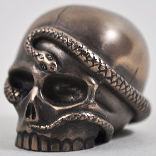 Snake Skull in Bronze - H5cm (small) by Design Clinic