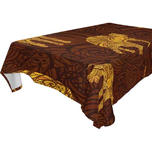 schdecke Afrika Tiere Gold Elefant, Polyester, Mehrfarbig, 137x183 cm ()